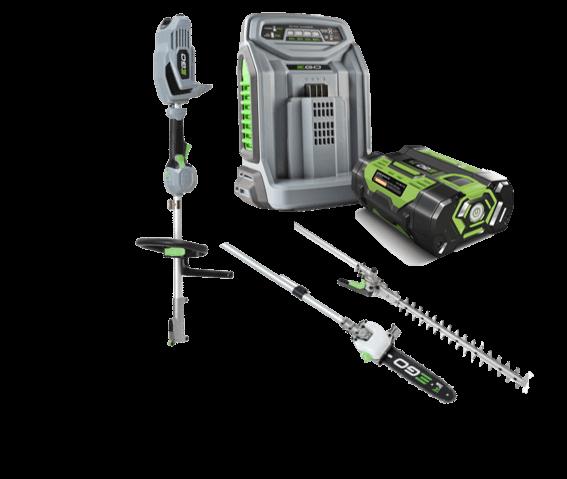 Power+ večnamenski KIT (pogon + dolge škarje + žaga) z baterijo in polnilcem
